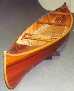 Wooden Canoe crafted by Master Canoe Builder Walter Walker of Lakefield, Ontario Canada