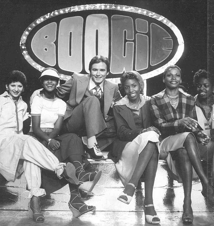 Tonya Lee Williams 2nd from left with Paul Godfrey on CITY TV Boogie Dance Show